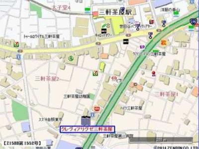 【地図】グレヴィアリグゼ三軒茶屋 二人入居可 ファミリー向け 宅配BOX