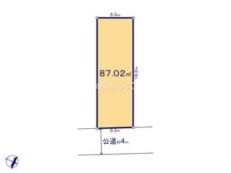 2区画:土地面積87.02平米、参考建物プランの用意あります