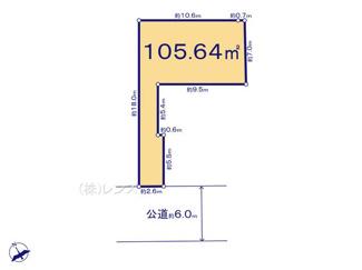 3号地:土地面積105.64平米、ゆとりあるプランを実現可能