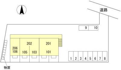 【区画図】セジュール加島町