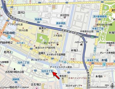 【地図】アクサス門前仲町