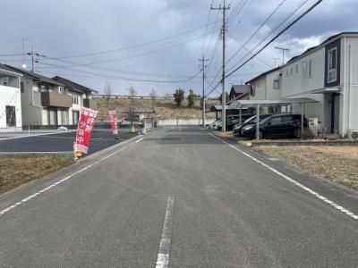 【前面道路含む現地写真】クレイドルガーデン真岡市長田第17 新築一戸建て