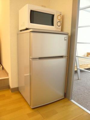 電子レンジ・冷蔵庫もついています!