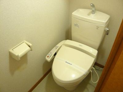 嬉しい温水洗浄便座です。