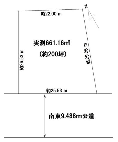【土地図】売地 我孫子市日秀