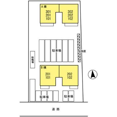 【区画図】ピースプレイスA