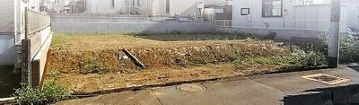 【前面道路含む現地写真】板橋区赤塚5丁目 建築条件なし売地 2区画 3280万円