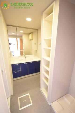 洗面所にあってほしい収納スペースがあるので、 タオルやストックもおきやすい