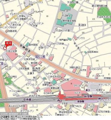 【地図】シンシア荻窪
