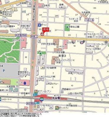【地図】メイツ井荻