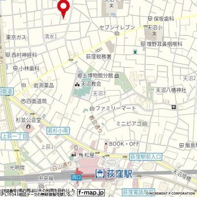 【地図】ウェルラボ荻窪