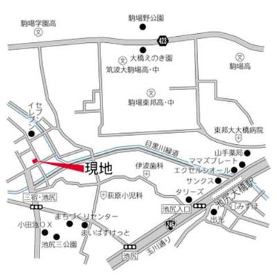 【地図】レジデンス三宿 ネット無料 デザイナーズ賃貸 2人入居可