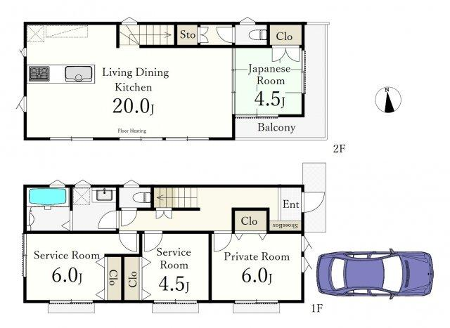 2LDK+2S、土地面積100.17m2、建物面積94.77m2