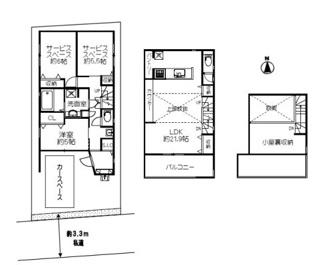 広々LDKは21帖、上部吹抜け+固定階段式グルニエの開放感