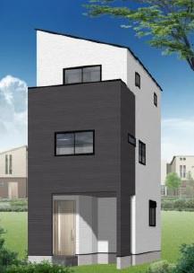 【完成予想図】杉並区上荻4丁目 建築条件なし売地 A区画 4350万円