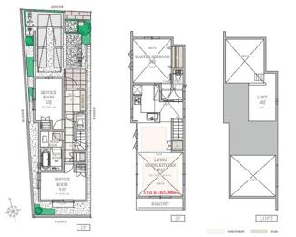 1号棟:プライバシーを守れる2階LDKは天井が高く開放的です