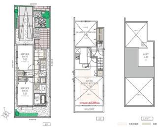 3号棟:プライバシーを守れる2階LDKは天井が高く開放的です