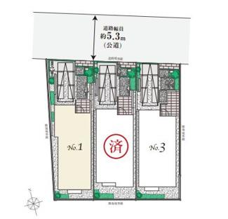 JR中央線「荻窪」駅徒歩14分の閑静な住宅地、全3棟です