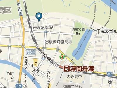 【地図】シャインフィールド舟渡(シャインフィールドフナド)