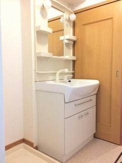 シャンプードレッサーと洗濯機置き場があります。