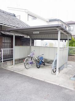 入居者共用の駐輪場です。