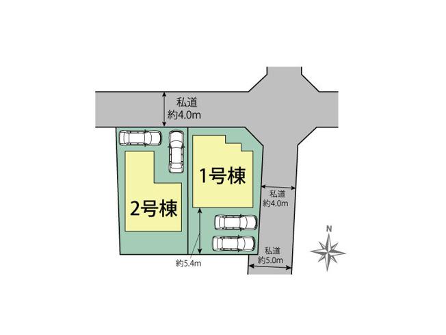 【区画図】小平市鈴木町1丁目 新築戸建て 全2棟 2号棟