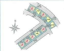 【区画図】つくば市並木4丁目 全10棟