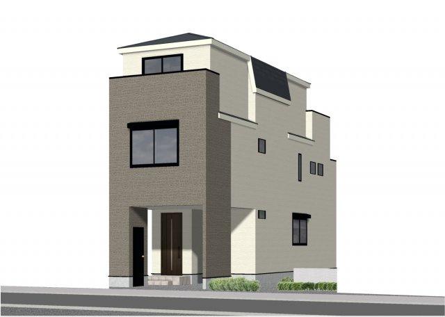 建物プラン 3階建4LDK+車庫 建物面積約126.68㎡(建物価格:2400万円)