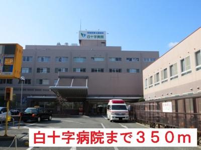 白十字病院まで350m