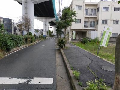 【前面道路含む現地写真】旭区中宮 売土地