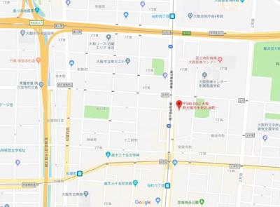 【地図】エステムコート谷町六丁目Ⅱアクティーネ