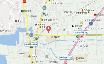 【地図】プレミオ松前