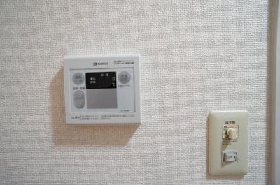 給湯器リモコンで温度調整が簡単♪