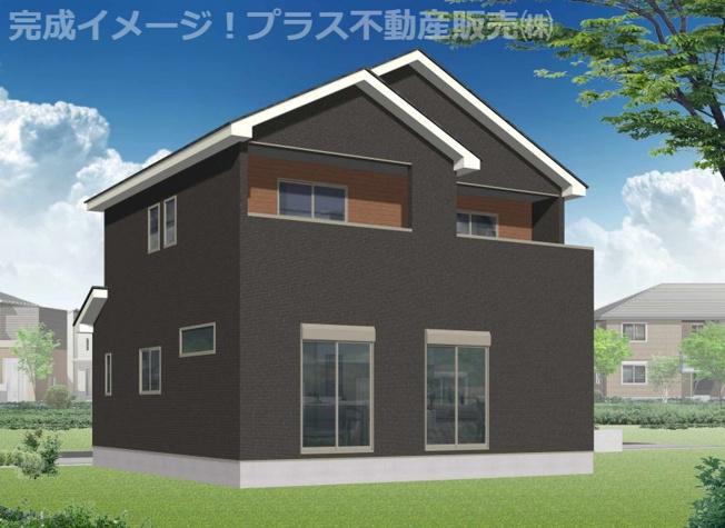 完成イメージ。建築中の物件は、お近くのモデルハウスも一緒にご覧頂けます。