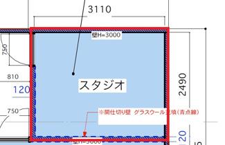 SkiiMa(スキーマ) マルチルームF区画図面