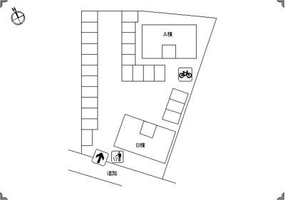 【区画図】ファミール三軒屋A