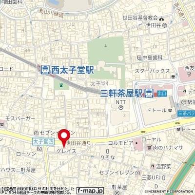 【地図】グレイス三軒茶屋