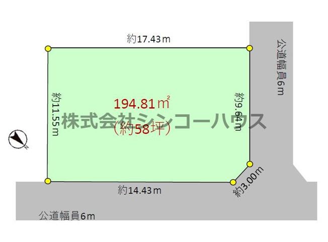 【区画図】久喜市吉羽一丁目 売地
