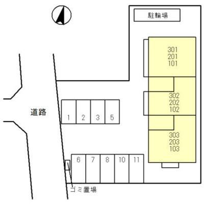 【区画図】(仮)D-room八潮7丁目