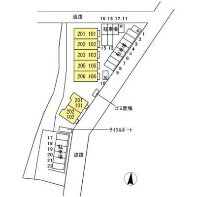 【区画図】D-room泉台