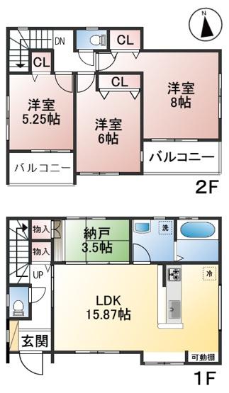 【区画図】早良区梅林6丁目新築戸建 3号棟
