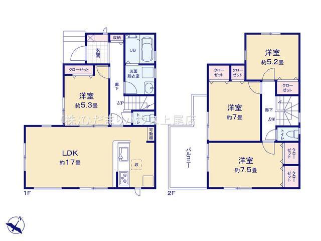 【区画図】桶川市末広 新築一戸建て リーブルガーデン 01