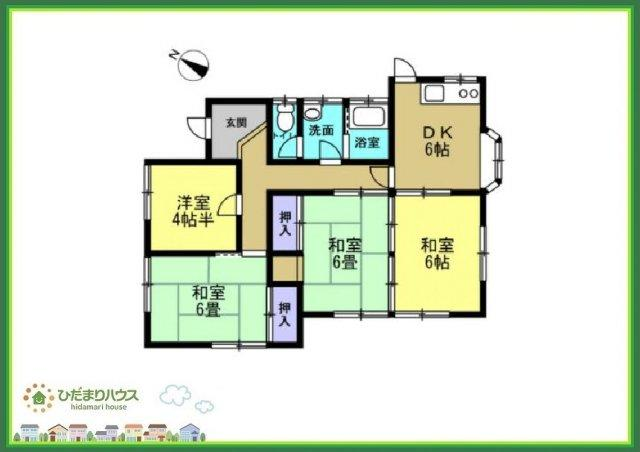 6畳の和室は、大人も子供もほっと一息つける空間です(#^^#)