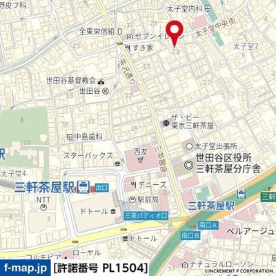 【地図】エル・ヴィーナ三軒茶屋
