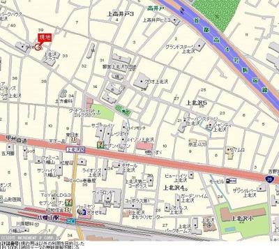 【地図】上北沢JAコーポ