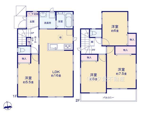 川口市大字道合74-5(B号棟)新築一戸建てハートフルタウン