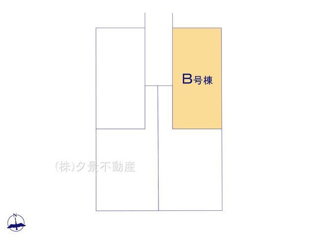 【区画図】川口市大字道合74-5(B号棟)新築一戸建てハートフルタウン