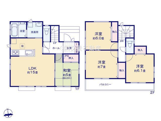 川口市大字道合74-5(C号棟)新築一戸建てハートフルタウン