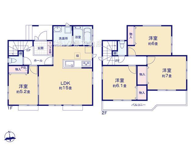 川口市大字道合74-5(D号棟)新築一戸建てハートフルタウン