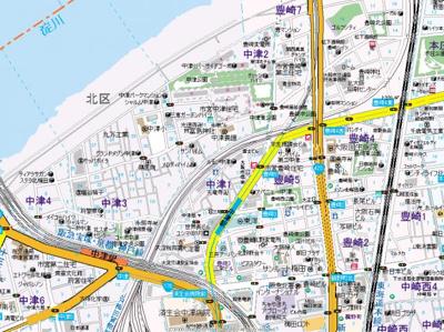 【地図】ミラージュパレス梅田グランツ